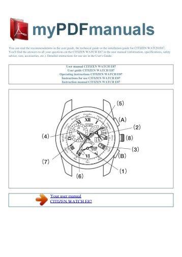 user manual tag heuer carrera calibre 36 1 rh yumpu com citizen watch operating manual citizen eco drive watch user manual