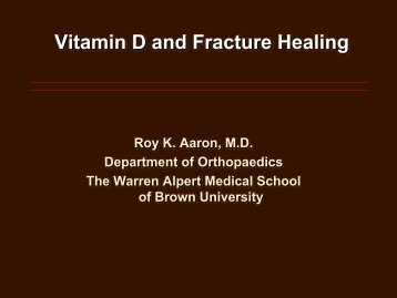 Vitamin D and Fracture Healing