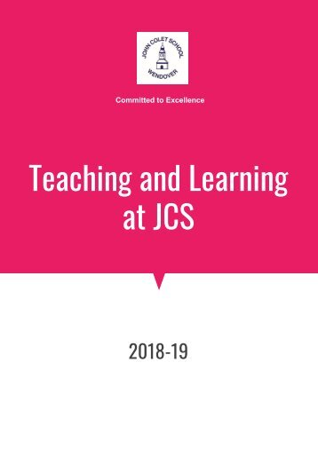 Staff info booklet Teaching and Learning at JCS (2)