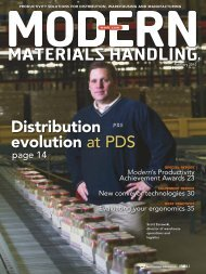 Productivity Solutions in Motion - Modern Materials Handling