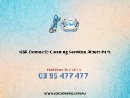 GSR Domestic Cleaning Services Albert Park
