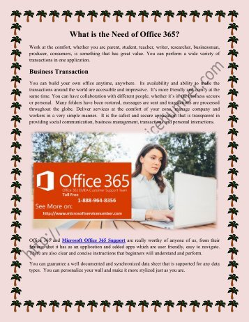 Office 365 Support 1-888-964-8356
