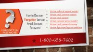 Setting Up Your Verizon Email Account 1-800-658-7602