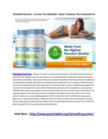 SlimSwift Garcinia Reviews - Surgical method for Loosing weight!