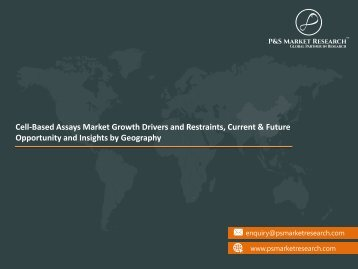 Cell-Based Assays Market Future opportunities, Growth Analysis 2023