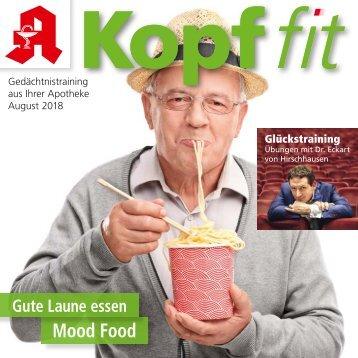 """Leseprobe """"Kopf-fit"""" August 2018"""