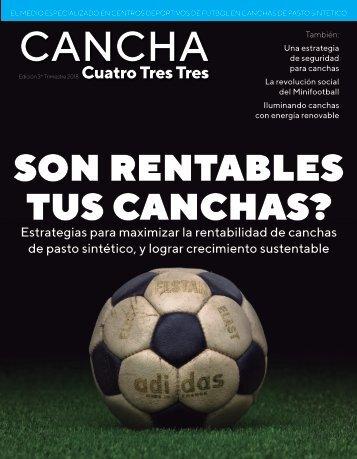 Revista Cancha 433 Edición 3er Trimestre 2018 (alta)