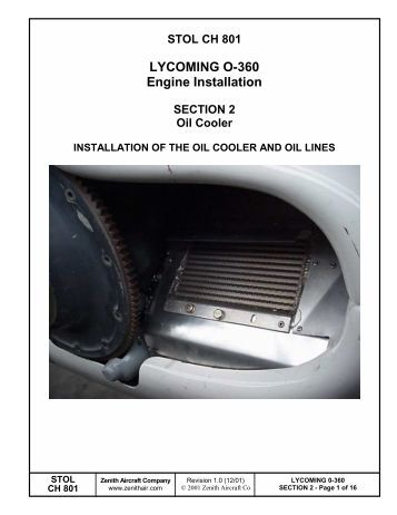 Lycoming 360 Installation manual