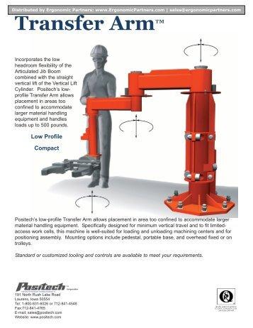 Transfer Arm™ Lift Assist Brochure - Ergonomic Partners