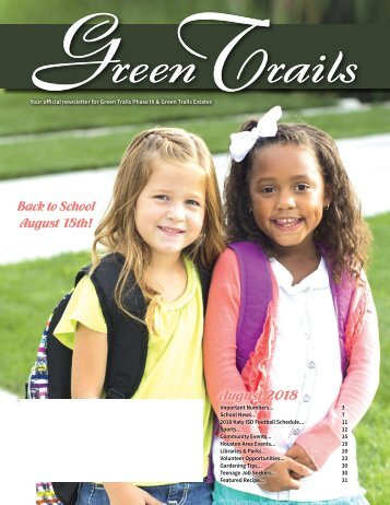 Green Trails Estates August 2018
