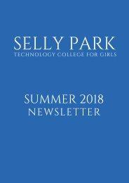 Selly Park Tech Newsletter Summer 2018