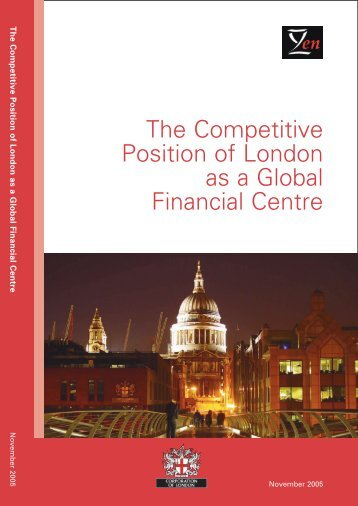 The Competitive Position of London as a Global Financial ... - Z/Yen