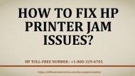 How To Fix HP Printer Jam Issues?