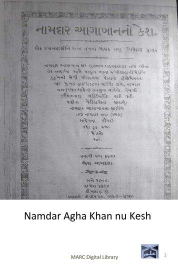 Book 38 Namdar Agha Khan nu Kesh