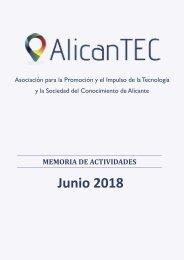Memoria AlicanTEC, Junio 2018