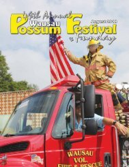 2018 Wausau Possum Festival Program