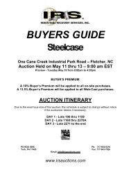 BUYERS GUIDE - IRS Auctions!