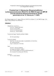 Protokoll der 9. Sitzung des Wissenschaftlichen ... - DKRZ