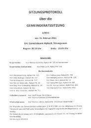 Gemeinderatssitzung (266 KB) - .PDF - Alpbach