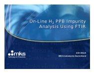 On-Line H2 PPB Impurity Analysis Using FTIR - MKS Instruments, Inc.