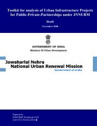 Toolkit for analysis of Urban Infrastructure Projects for ... - JnNURM