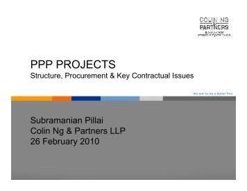PPP Projects - Colin Ng and Partners