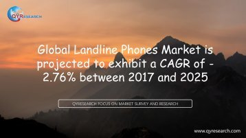 Global Landline Phones Market is projected to exhibit a CAGR of -2.76