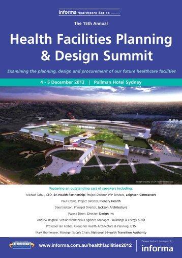 Health Facilities Planning & Design Summit - Informa Australia