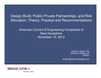 Design Build - American Council of Engineering Companies - New ...