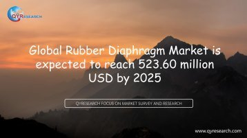Global Rubber Diaphragm Market is expected to reach 523.60 million USD by 2025