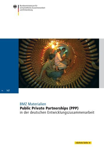 BMZ Materialien Public Private Partnerships (PPP ... - CSR WeltWeit