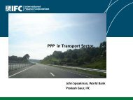 PPP in Transport Sector - ppiaf