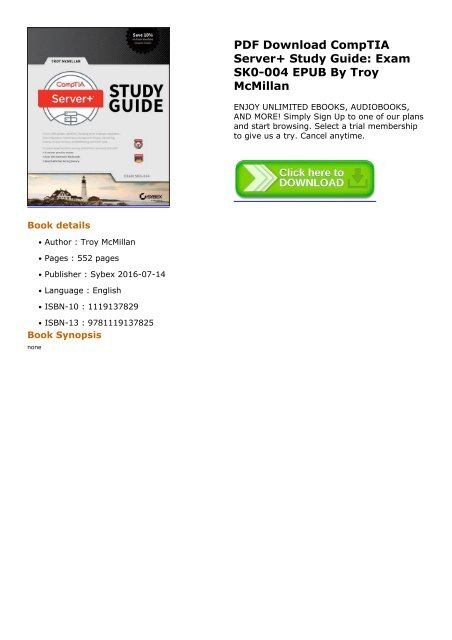 Comptia Server+ Ebook