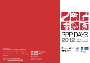 PPP Days 2012 Flyer - UNECE