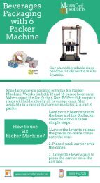 Beverages Packaging with 6 Packer Machine