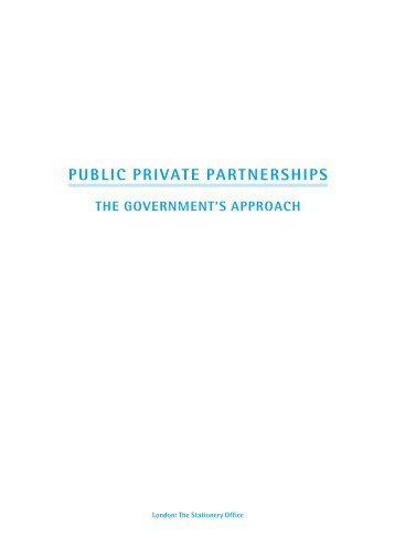 Public Private Partnerships: The Government's ... - HM Treasury