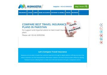Travel insurance companies in pakistan