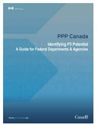 Identifying P3 Potential - PPP Canada