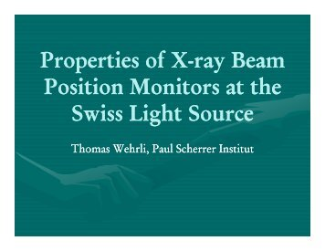 Properties of X-Ray Beam Position Monitor at