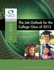 The Job Outlook for the College Class of 2013 11 ... - Career Services