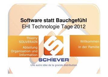 Software statt Bauchgefühl EHI Technologie Tage 2012 - Acteos