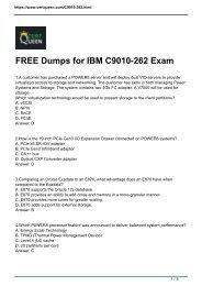 CertQueen IBM Certification C9010-262 Exam Dumps PDF