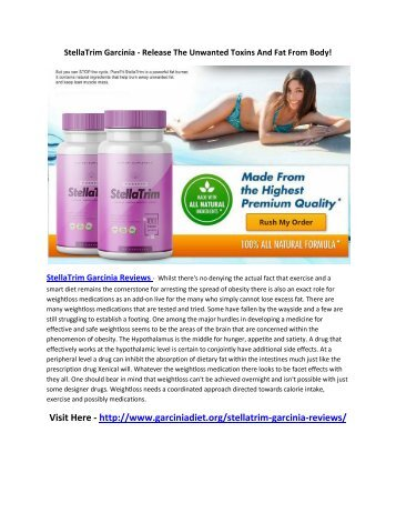 StellaTrim Garcinia - Contain Only Natural Ingredients For Loosing Weight!