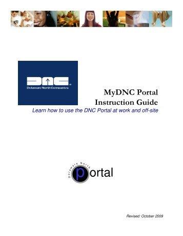 MyDNC Portal Instruction Guide - Delaware North Companies