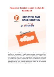 Magento 2 Scratch Coupon (Email Subscription) Extension by Knowband