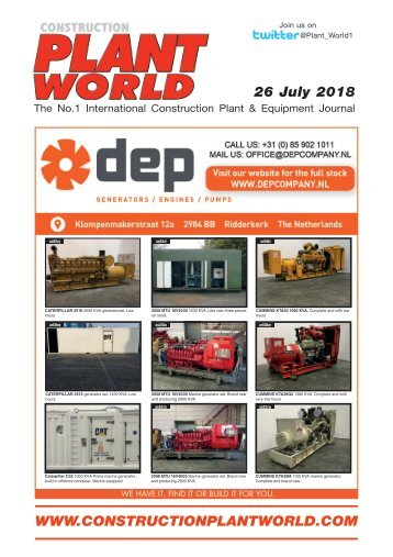 Construction Plant World 26th July 2018