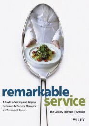 [+][PDF] TOP TREND Remarkable Service: A Guide to Winning and Keeping Customers for Servers, Managers, and Restaurant Owners (Culinary Institute of America) [PDF]