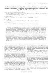 The Systematic Position of Plagiochila moritziana, P. trichostoma ...
