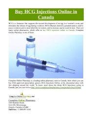 Buy HCG Injections Online in Canada