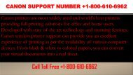 Canon Support Number +1-800-610-6962